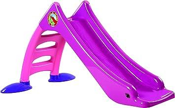 Dohany Tiktaktoo Stabile Kleinkinderrutsche für Kinder ab 1 Jahr Kinderrutsche Garten mit Wasseranschluss als WasserrutscheKinder Rutsche Rutschbahn Outdoor Gartenrutsche Rosa