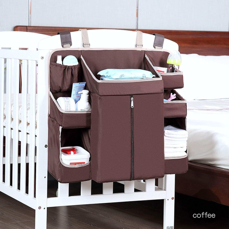 WSXX Crib Storage Bag, Baby Bedside Hanging Bag Storage Bag, Baby Goods Diaper Table Storage Bag, Washable by WSXX