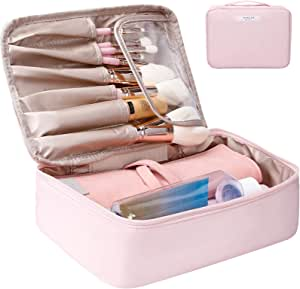 حقيبة مكياج للسفر من دوكولور، مقاومة للماء، حقيبة مستحضرات التجميل لتنظيم أدوات التجميل أثناء السفر، للإكسسوارات، شامبو، حاوية بالحجم الكامل