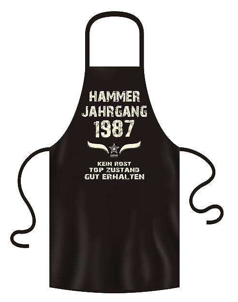 Geschenk Set Zum 31. Geburtstag : Hammer Jahrgang 1987 : Schürze U0026 Urkunde  Geburtstagsgeschenk Geschenkidee
