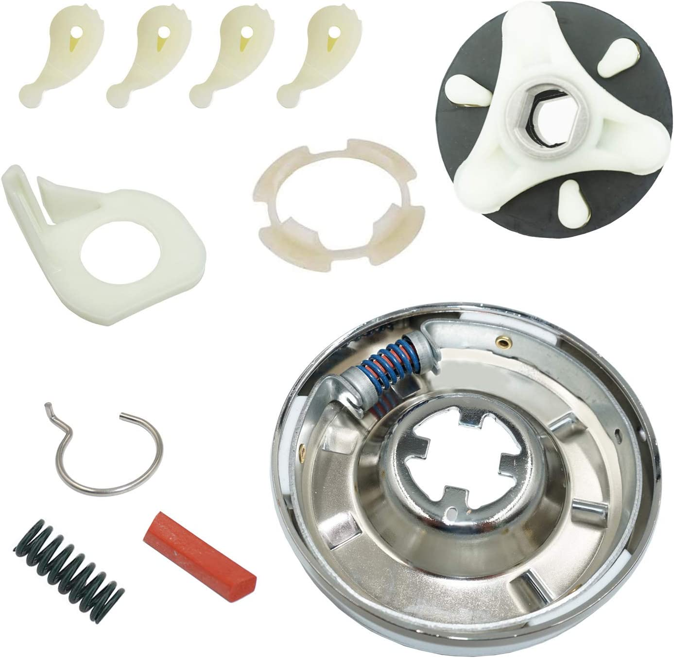 Ecumfy 285785 Washer Clutch Kit, 285753A Washer Motor Coupler Kit and 4 Pieces 80040 Washer Agitator Dog Compatible with Whirlpool Washer
