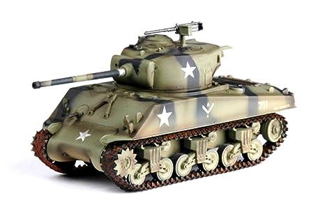 Amazon com: 1:72 Pre-painted model M4A3 (76) w Sherman tank