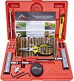 Boulder Tools - 56 Pc Heavy Duty Tire Repair Kit for Car Truck Jeep ATV Motorcycle Tractor. Flat Tire Puncture Repair
