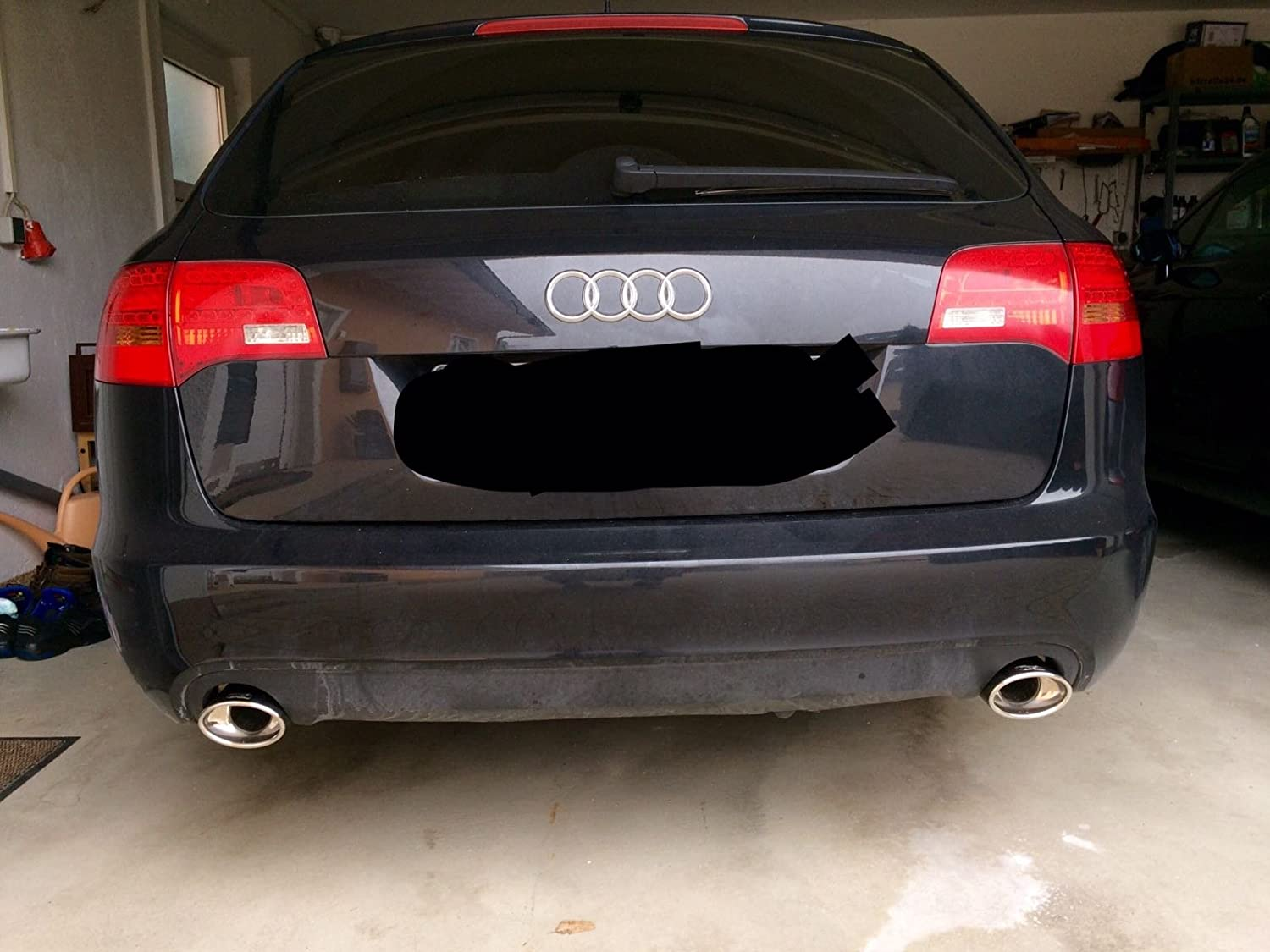 Auto-Tuning & -Styling Duplex Endrohre AUDI A6 C6 4F oval 120x80mm ...