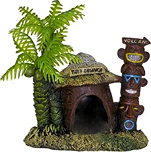 Blue Ribbon 006062 Exotic Environments Betta Hut with Palm Tree, B00FKVFK6I, Multi