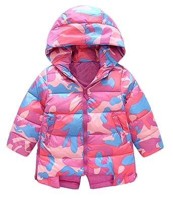 e6c0426e5 BANGELY Kids Girls Camouflage Puffer Hooded Coats Snowsuit Winter ...