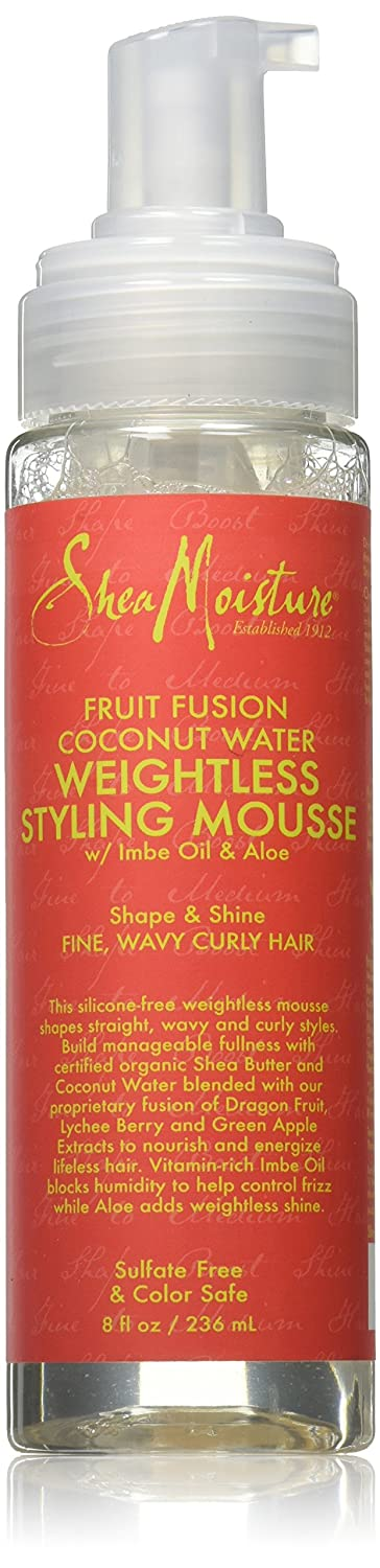 Shea Moisture Fruit Fusion Coconut Water Weightless Styling Mousse, 8 Ounce Atlas Ethnic 121
