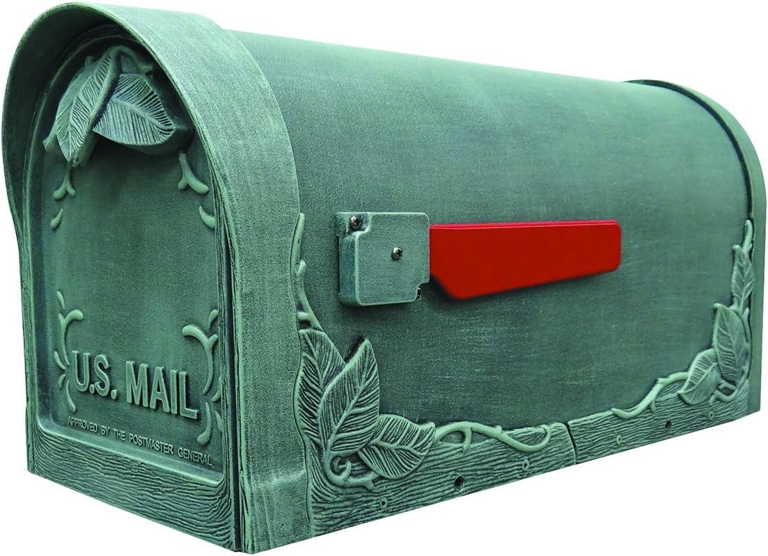 Black Special Lite Products SCF-1003-BLK Floral Curbside Mailbox