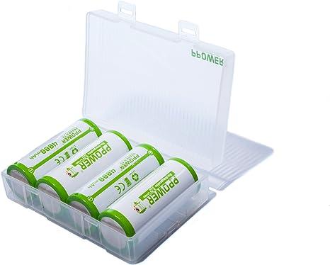 1 Caja de batería PPower, Caja de Almacenamiento, Caja de batería, contenedor para 4 baterías de Ion de Litio 26650 (baterías no Incluidas) P-Power: Amazon.es: Electrónica