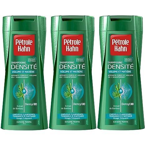Densidad Hahn champú de aceite de adelgazamiento del cabello por 250 ml - juego de 3
