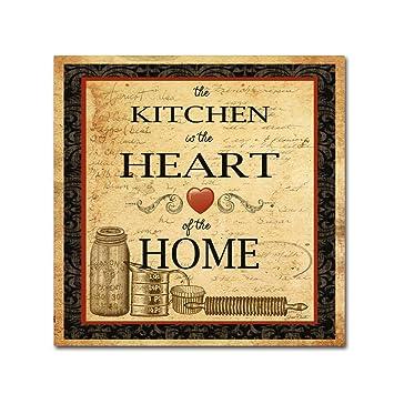 Amazon.com: Kitchen Heart Vignette by Jean Plout, 14x14-Inch Canvas ...