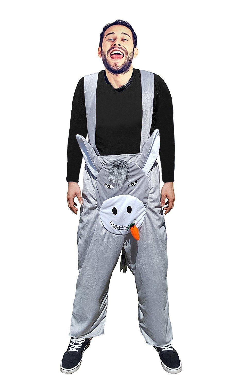 F117 Disfraz de burro Pantalone XL-XXL, disfraces de burro para hombres y mujeres, disfraces de pareja, disfraces de grupo, disfraces de carnaval de burros, ...