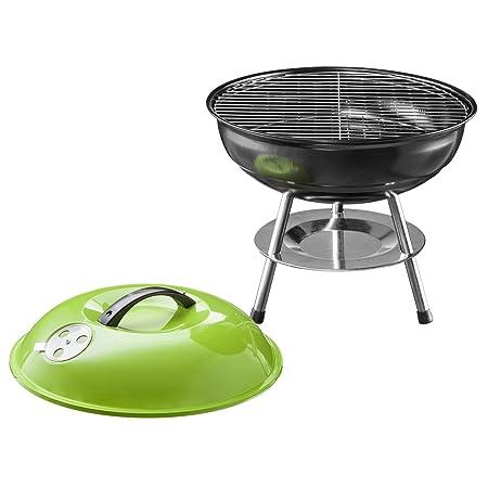 Micro BBQ Barbacoa compacto de viaje de carbón vegetal Barbacoa Mesa Grill Acero Inoxidable Esmaltada 40 cm: Amazon.es: Hogar