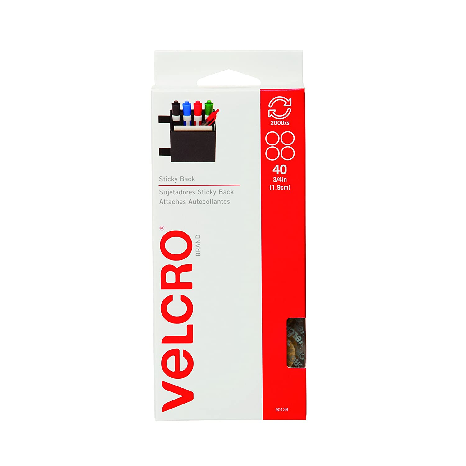 VELCRO Brand Sticky Back | Hook and Loop Fasteners | Keep Things Organized and Connected | 7/8in | 12 Squares, Black VELCRO USA VELCRO® Brand 90072