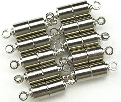 c0e7c0a609c96e Amazon.com: CrazyPiercing 10 PCS Silver Magnetic Clasps for Jewelry ...