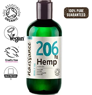 Pipkin 100% Organic Hemp Seed Oil 250ml, Cold Pressed Raw Unrefined