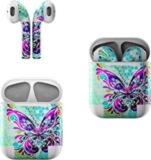product image for Skin Decals for Apple AirPods - Butterfly Glass - Sticker Wrap Fits 1st and 2nd Generation