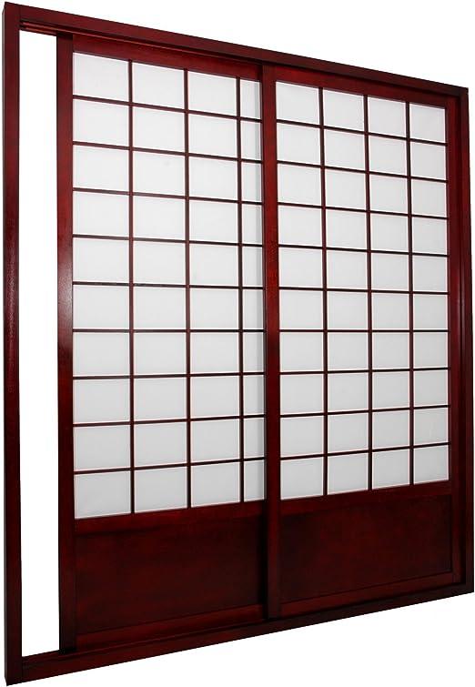 Muebles Oriental Zen Shoji Puerta Corredera Kit, Doble Cara Miel: Amazon.es: Hogar