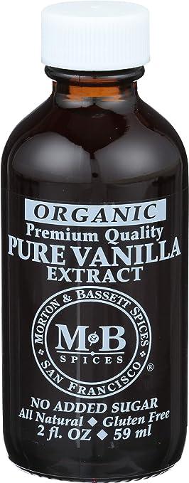 Amazon.com : Morton & Basset, Vanilla Extract Pure Organic, 2 Fl Oz : Grocery & Gourmet Food