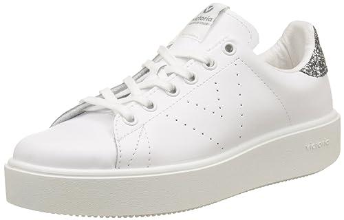 Victoria Deportivo Basket Piel, Zapatillas para Mujer, Gris (Antracita), 40 EU