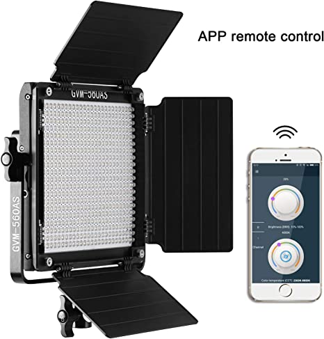 Gvm 560 Led Video Light Panel With App Control Function Photography Lighting Cri97 3200k 5600k Bi Color For Studio Youtube Interview Outdoor Metal