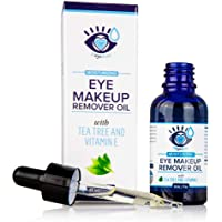 Gentle, Waterproof Eye Makeup Remover - Moisturizing and Organic with Vitamin E and Tea Tree Oil to Support Dry, Itchy…