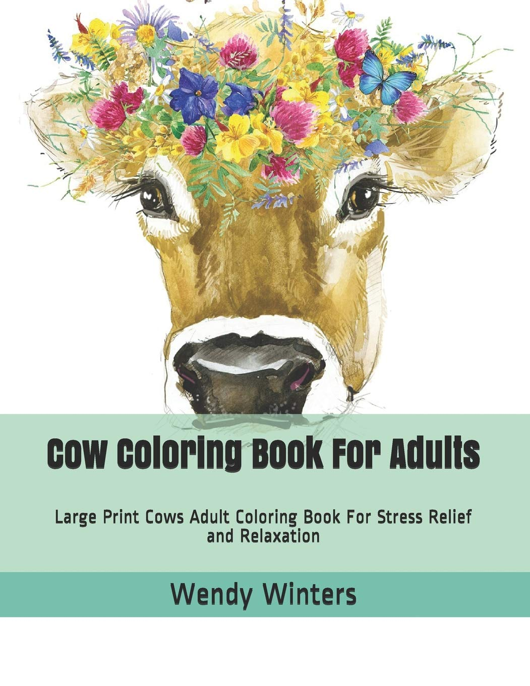Cow Coloring Book Adults Relaxation product image