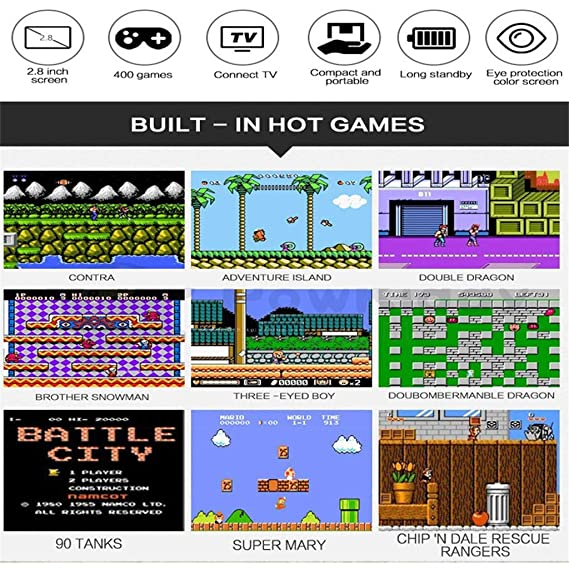 Liqiqi Retro Juego de Consola de Videojuegos de Mano ...