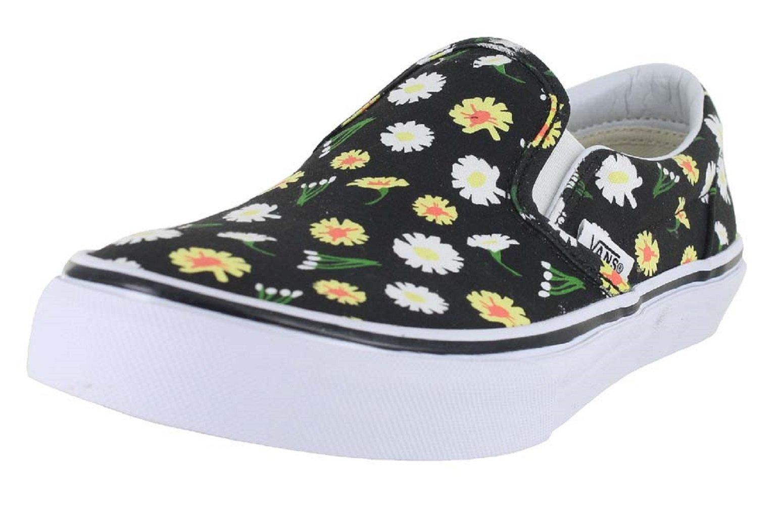 Vans K Slip-ON Daisy Black White Size 6