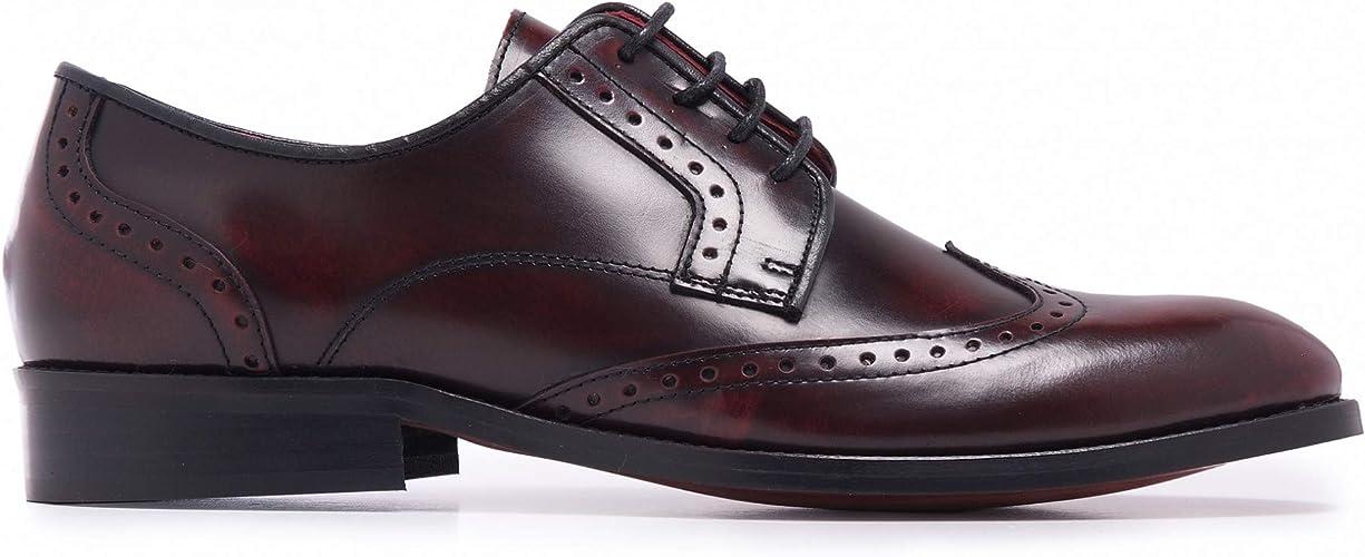 Castellanisimos Zapato Blucher Piel Hombre Burdeos Cordones Comodo ...