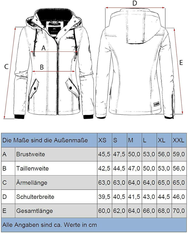 Marikoo Damen /Übergangsjacke mit Kapuze Maliaa 8 Farben XS-XXL