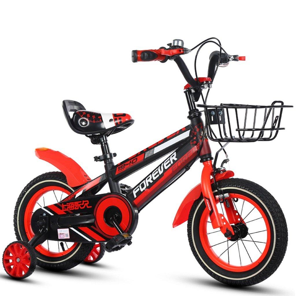 CSQ 子供の自転車、少年少女のペダル自転車小児個々の自転車2~12歳の赤ちゃん補助車の自転車と88-121CM 子供用自転車 (色 : 赤, サイズ さいず : 115CM) B07DN73DXJ赤 115CM