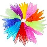 Dance Scarves,NASUM 20pcs Square Juggling Silk Dance Scarves Movement Scarves Magic Tricks Performance Props Accessories
