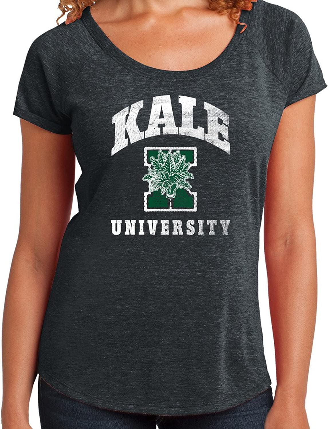 "Yoga Clothing For You Ladies ""Kale University"" Scoop Tee"