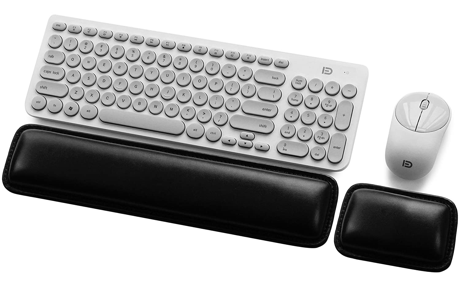 Comfortable /& Lightweight Design for Easy Typing and Pain Relief BOONA Superfine Fiber Widen Memory Foam Set Nonslip Mouse Pad Wrist Support /& Keyboard Wrist Rest Support for Computer /& Laptop