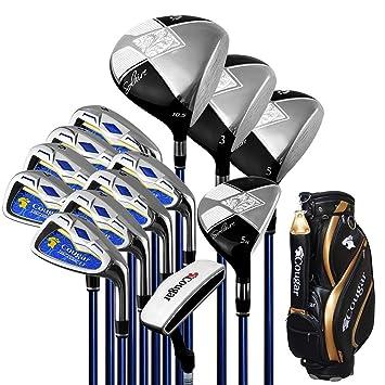 GAOERFU Club de Golf con Cuerpo de Hierro Completo/Eje de ...