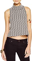 Free People Womens Ski Slope Tank Top, Black/Ivory Combo, ...