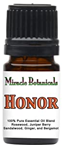 Miracle Botanicals Honor - 100% Pure Essential Oil Blend - Therapeutic Grade 5ml