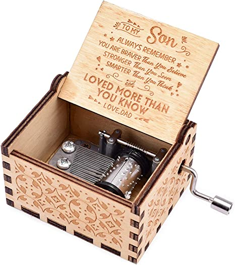 You Are My Sunshine Music Box Hand Cranked Wooden Handmade Birthday Gifts Toys