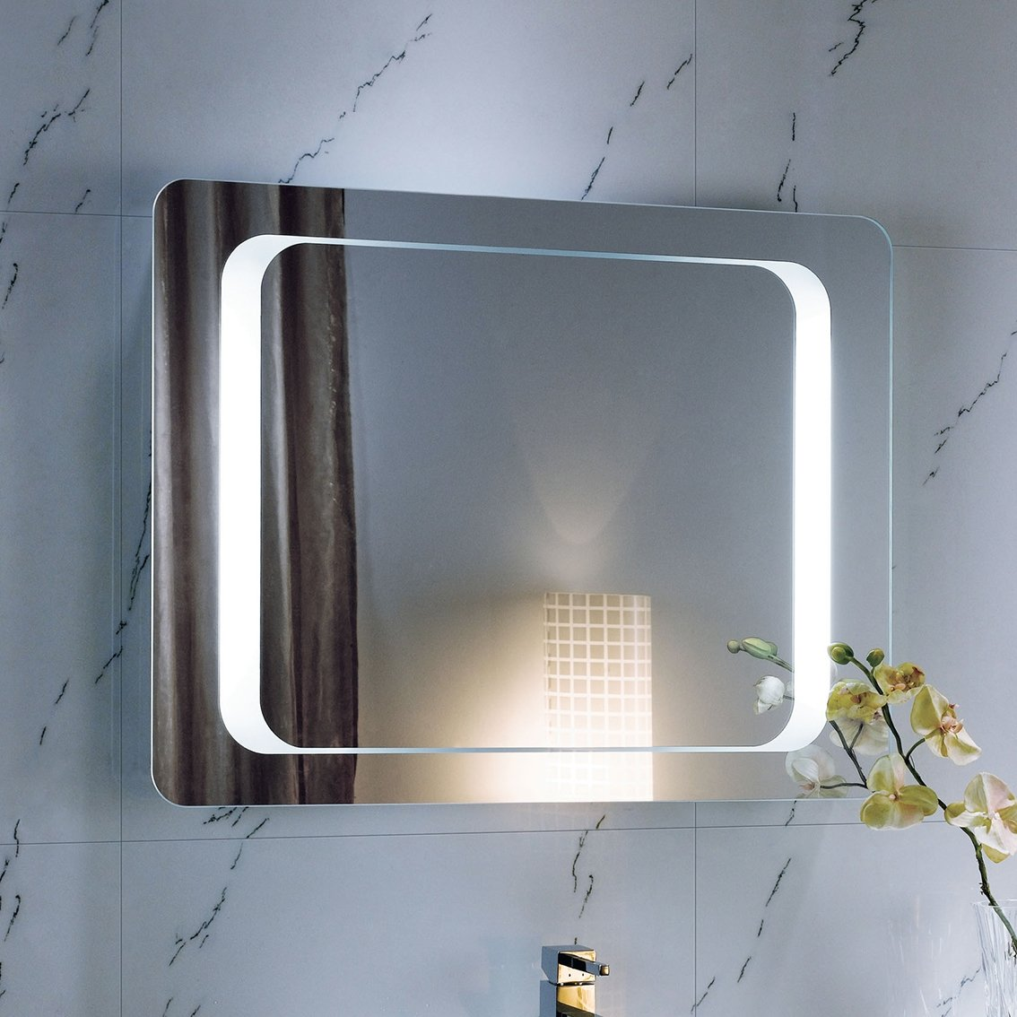 800 x 600 mm Illuminated LED Bathroom Mirror Light with Sensor + Demister ML2112 iBathUK