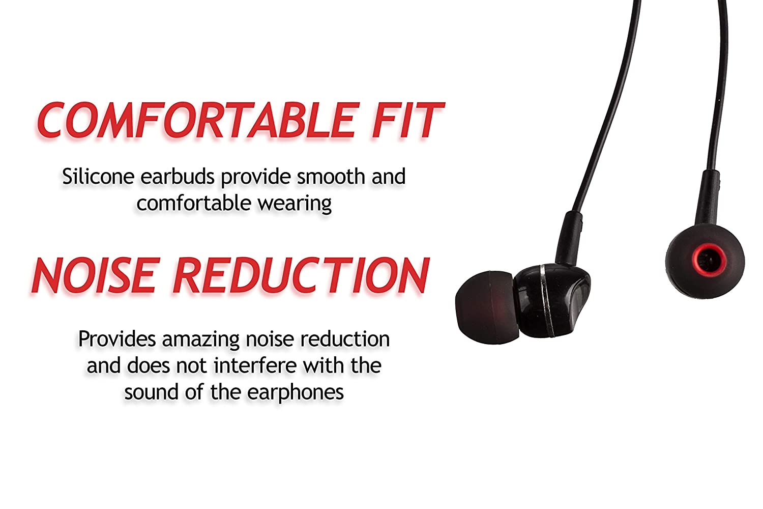 Replacement Ear Tips for Popular in-Ear Headphones M Transparent//Blue 7 Pairs of Silicone Replacement in Ear Earphone Medium Size Earbuds 14 Pieces XCESSOR