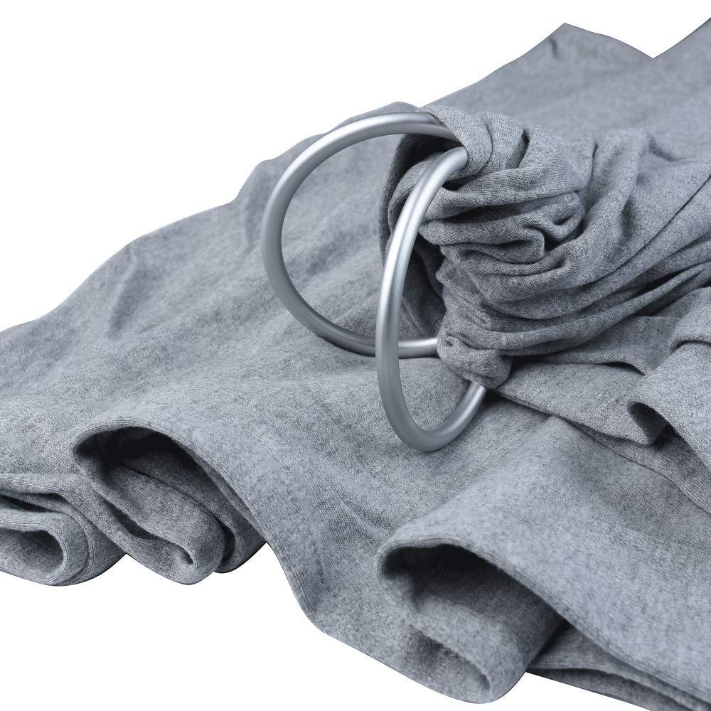 ligero Wrap Dark Gray ajuste lactancia cubierta 100/% algod/ón org/ánico beb/é Wrap anillo Sling Carrier extra suave beb/é Sling Carrier Wrap con anillos