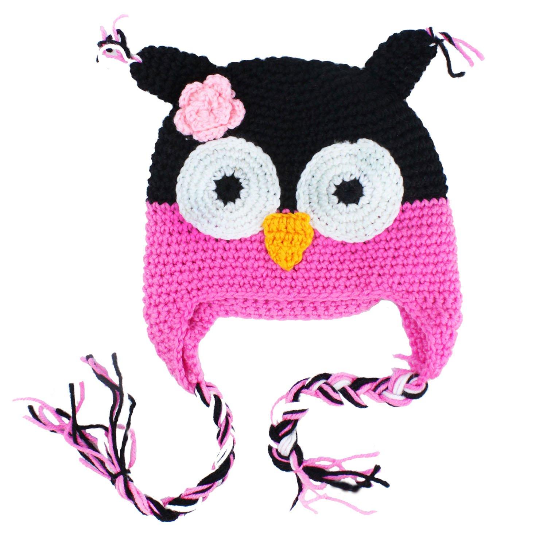 Amazon.com: niceEshop(TM) Cute Owls Crochet Knit Wool Toddler Hat ...
