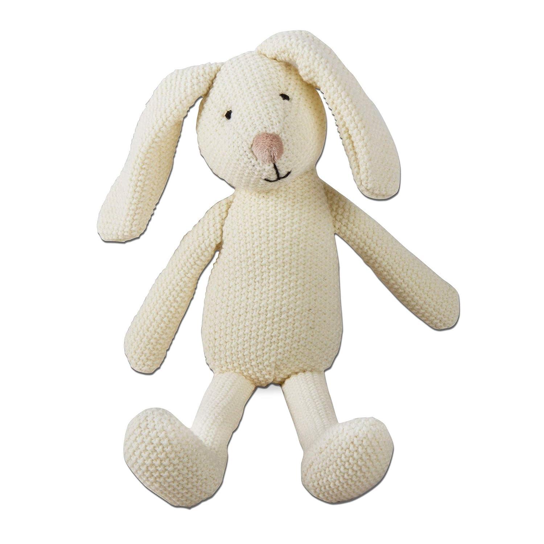 tag Knit Easter Bunny Plush White