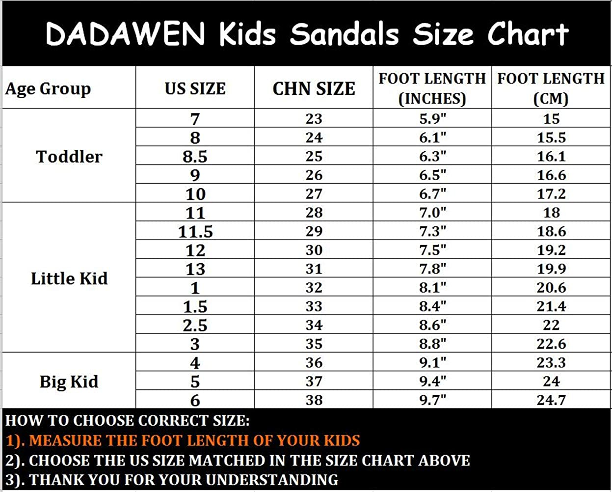 DADAWEN Girls Boys Summer Leather Strap Fisherman Sandal Toddler//Little Kid//Big Kid