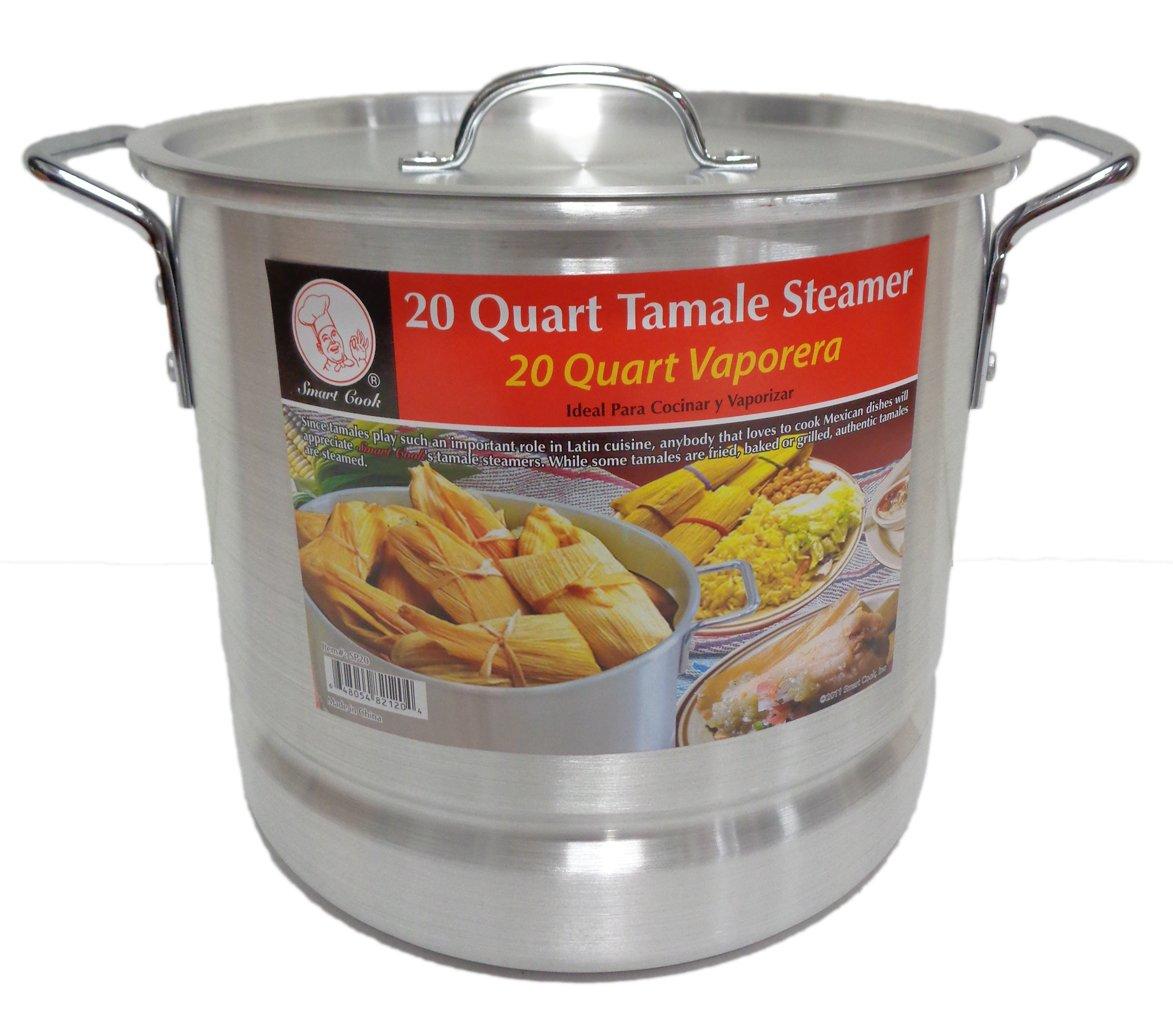20 Qt Tamale Steamer Vaporera Stock Pot Premium Aluminum Tamalera 5 Gallons