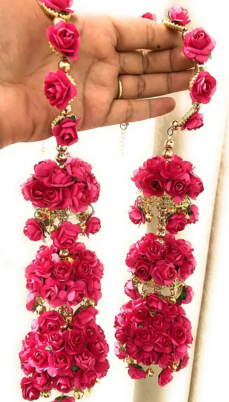 Red Colour Flower Kalire Pair for Bride