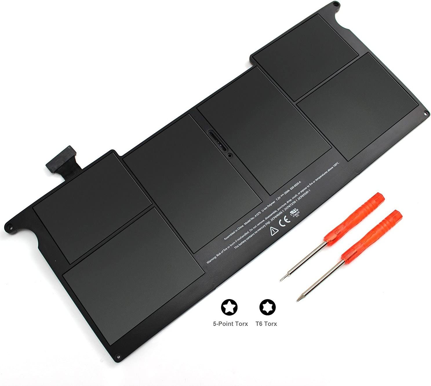 HUSAN New A1375 Laptop Battery Compatible for MacBook Air 11 inch A1370 (Only 2010 Version),Fits MC507 MC505LL/A MC506LL/A MC507LL/A