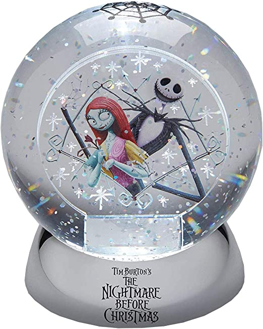 DISNEY Nightmare Before Christmas Jack and Sally Water Ball
