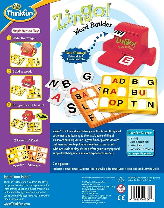 Amazon Think Fun Zingo Word Builder Early Reading Game Award